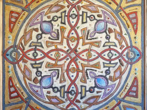 Mandala per arredamento di stile mistico religioso
